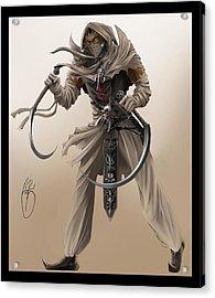 Assassin Acrylic Print by Antoine Ridley