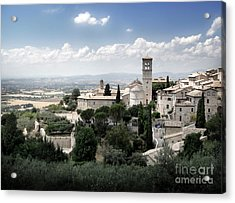 Assisi Italy - Bella Vista - 01 Acrylic Print by Gregory Dyer