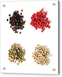 Assorted Peppercorns Acrylic Print by Elena Elisseeva