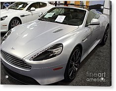 Aston Martin Virage Convertible . 7d9626 Acrylic Print by Wingsdomain Art and Photography