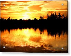 Astonishing Sunset Acrylic Print by Luis and Paula Lopez