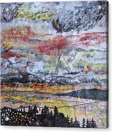Astoria Megler Bridge Sunset Acrylic Print by Rachel Biddlecome