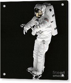 Astronaut Stands On A Portable Foot Acrylic Print by Stocktrek Images