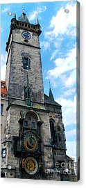 Astronomical Clock In Prague Acrylic Print by Pravine Chester