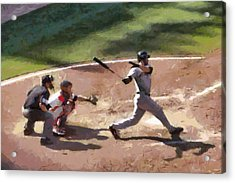 At Bat Acrylic Print by Lynne Jenkins