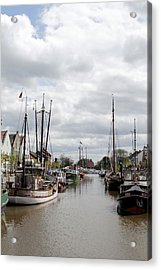 At The Old Harbor Acrylic Print by Steve K