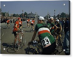 Athletes From Many Countries Await Acrylic Print by Justin Locke