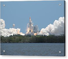 Atlantis Lift Off Acrylic Print by Keith Stokes