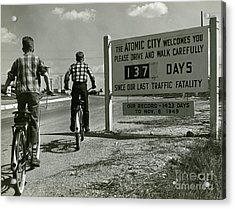 Atomic City Tennessee In The Fifties Acrylic Print by Tom Hollyman and Photo Researchers