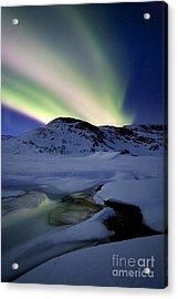 Aurora Borealis Over Mikkelfjellet Acrylic Print by Arild Heitmann