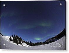 Aurora Over Vee Lake, Yellowknife Acrylic Print by Yuichi Takasaka