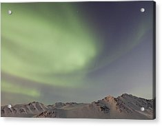 Auroras Over Mountains Acrylic Print by Tim Grams