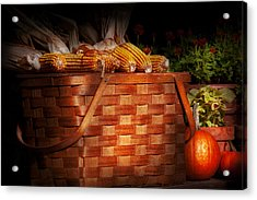 Autumn - Gourd - Fresh Corn Acrylic Print by Mike Savad