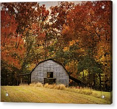 Autumn Barn Acrylic Print by Jai Johnson