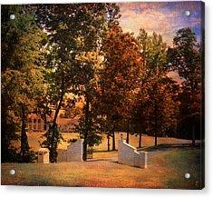 Autumn Gate Acrylic Print by Jai Johnson