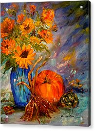 Autumn Impressions Acrylic Print by Barbara Pirkle