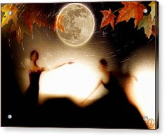 Autumn Moon Dance Acrylic Print by Gun Legler