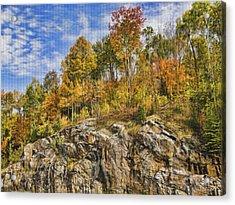 Autumn On The Rocks Acrylic Print by Jo-Anne Gazo-McKim