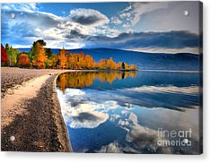Autumn Reflections In October Acrylic Print by Tara Turner