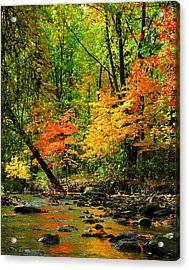 Autumn Reflects Acrylic Print by Frozen in Time Fine Art Photography