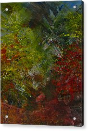 Autumn Sunshine Abstract Acrylic Print by Sherry Robinson