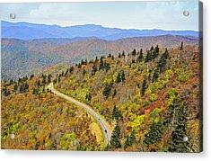 Autumn Travel Acrylic Print by Susan Leggett