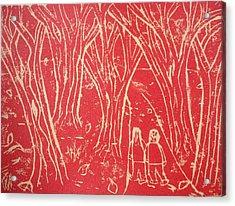 Autumn Walk Acrylic Print by Ward Smith
