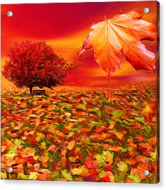 Autumnal Scene Acrylic Print by Lourry Legarde