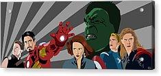 Avengers Assemble Acrylic Print by Lisa Leeman