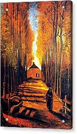Avenue At Poplars Acrylic Print by Sumit Mehndiratta