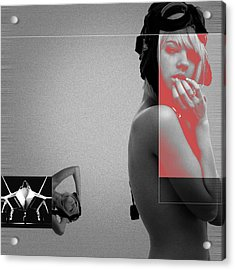 Aviator Acrylic Print by Naxart Studio