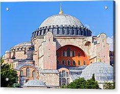 Ayasofya Byzantine Landmark Acrylic Print by Artur Bogacki