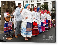 Azorean Folk Music Group Acrylic Print by Gaspar Avila