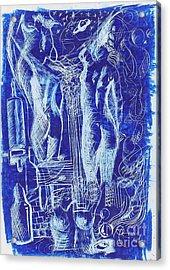 Azul 08 Acrylic Print by Marcos