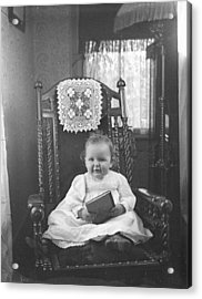 Baby Can Read Acrylic Print by Jan Faul