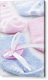 Baby Socks  Acrylic Print by Elena Elisseeva