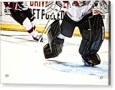 Back To The Crease Acrylic Print by Karol Livote