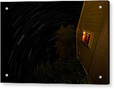 Backyard Star Trails Acrylic Print by Mike Horvath