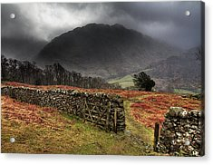 Bad Weather Over Seatoller Acrylic Print by Image by Roger Fleet.