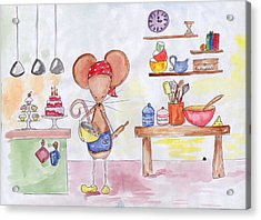 Bakery Mouse Acrylic Print by Sarah LoCascio
