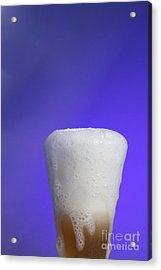 Baking Soda Reacting With Vinegar Acrylic Print by Photo Researchers, Inc.