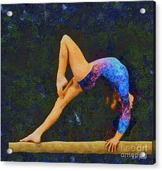 Balance Beam Acrylic Print by Elizabeth Coats