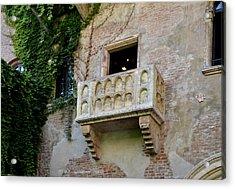 Balcone Di Romeo E Giulietta Acrylic Print by Martina Fagan