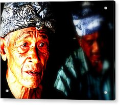 Balinese Old Man Acrylic Print by Funkpix Photo Hunter