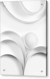 Ball And Curves 02 Acrylic Print by Nailia Schwarz