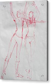 Ballerina 8040 Acrylic Print by Elizabeth Parashis