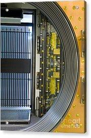 Bank Vault Doors Acrylic Print by Adam Crowley