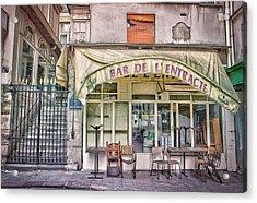 Bar De L'entracte Acrylic Print by Stephanie Benjamin