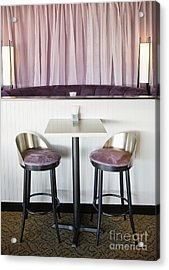 Bar Table And Chairs Acrylic Print by Andersen Ross