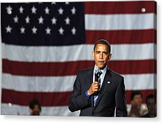 Barack Obama At A Public Appearance Acrylic Print by Everett
